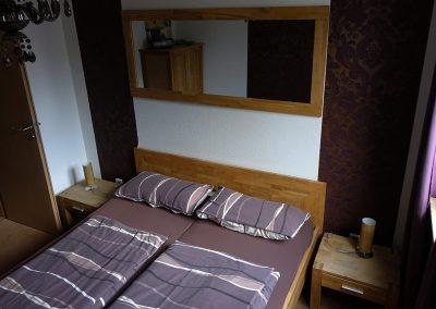 Schlafzimmer 1. OG Doppelbett
